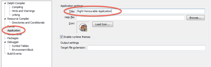 Setting the Application Title